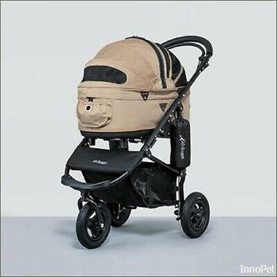 """AirBuggy, Hundebuggy Pet Stroller M """"Dome 2"""" -mit Handbremse - 3in1 - sand/beige"""