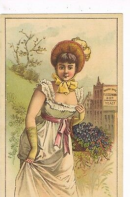 VICTORIAN ADVERTISING / TRADE Card     FLEISCHMANN & COMPANY