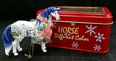 "Westland Horse of a Different Color ornament Xmas ""Snowman"" New in metal box"
