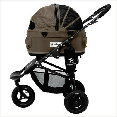 """AirBuggy, Hundebuggy Pet Stroller S/M """"Dome 2"""" -mit Handbremse - 3 in1 - taupe"""