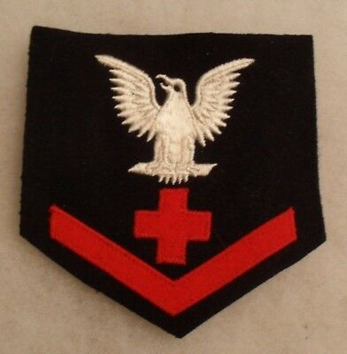 Wwii Usn 3Rd Class Hospital Corpsman Red Wool Cross