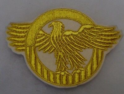 Great Wwii Jacket Size Ruptured Duck Lg Jacket Patch Emb Gold On White Felt Orig