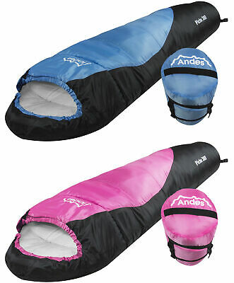 Andes Pichu 300 Childrens/Kids Boys Girls 2-3 Season Camping Sleeping Bag