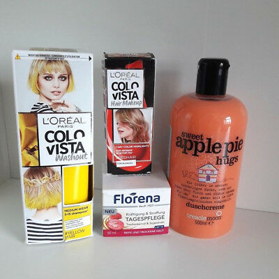 Beauty Paket L'Oréal Colovista Treaclemoon Duschcreme apple pie hugs Florena