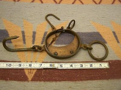 Old West Vintage Trappers Antique Buffalo Hunters & Hide Scale