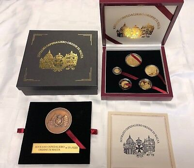 2004 Knights Of Malta Proof .999 Gold Set Vatican Pope