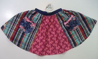 WILDFLOWERS CLOTHING NWT WRITTEN IN THE STARS SKIRT 6 scottie dog plaid twirl