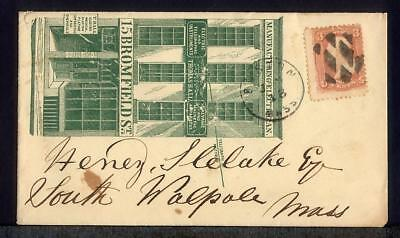 1868 Thomas Hall ELECTRIC & TELEGRAPH INSTRUMENTS Advertising Cover Fancy Cancel