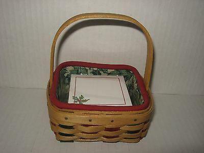 Longaberger 2003 Holiday Helper Holly Combo Complete FREE SHIPPING MINT!