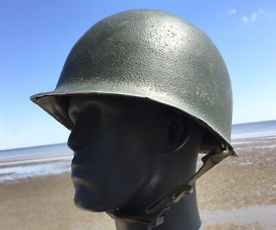 Early WWII US Army FIXED BALE Front Seam M1 STEEL Helmet WWII Viet LINER USMC