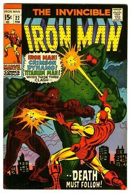Iron Man #22 (1970) VF New Marvel Silver Bronze Collection