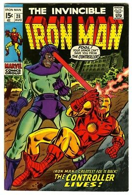 Iron Man #28 (1970) F/VF New Marvel Silver Bronze Collection