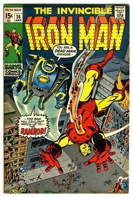 Iron Man #36 (1971) VG- New Marvel Silver Bronze Collection