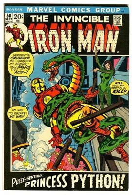 Iron Man #50 (1972) Fine+ New Marvel Silver Bronze Collection