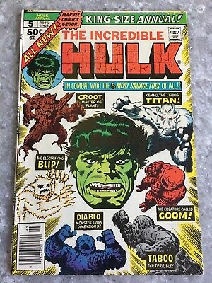 Incredible Hulk Annual 5 2nd Appearance of Groot VG+ Condition