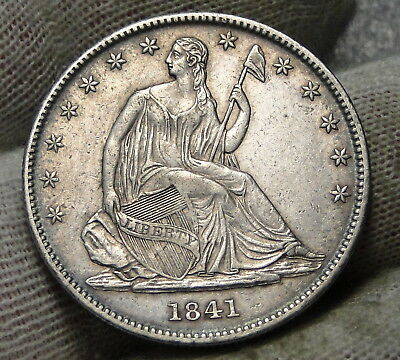 1841-O Seated Liberty Half Dollar 50 Cents.  Nice Old Coin Free Shipping (7464)