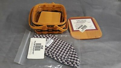 Longaberger Miniature Cake Basket Liner/protector And Box