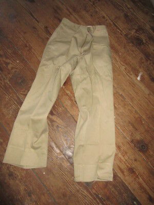 Vtg 40-50's US Navy Cotton. Boat Cloth Chinos Pants Trousers named, Size 30 X 30