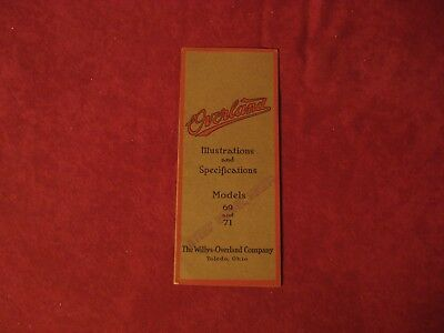 1913? Overland 69 71 Sales Brochure Booklet Catalog Old Original Book