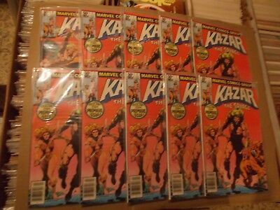 KAZAR THE SAVAGE 1 10 ISSUES   vfn+  nm