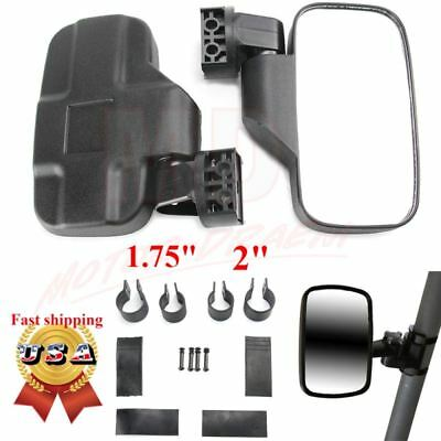 "Mirrors Set UTV Side View High Impact Break Away Convex 1 5/8"" - 2"" Roll Cage US"