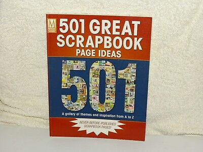 Scrapbooking *501 Great Scrapbook Page Ideas Sc Book * 192 Pages Vgc Full Colour
