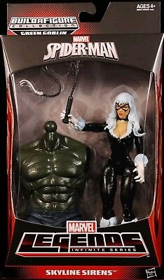 "2014 Marvel Legends Infinite Green Goblin Baf Black Cat 6"" Figure Mib Spider-Man"