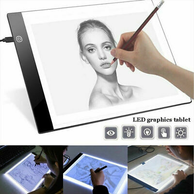 A4 LED Drawing Board Tracing Light Box Tattoo Art Stencil Slim Lightbox Pad