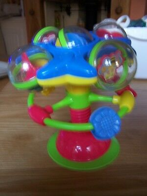 high chair  activity suction toy - used