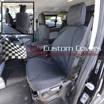 Ford Transit Custom 2018 + Tailored Front Seat Covers Single/single - Black 275