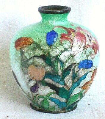 C19Th Japanese Cloisonne Vase Decorated With Flowers