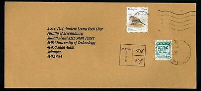 Malaysia 2007 50c Postage Due on cover