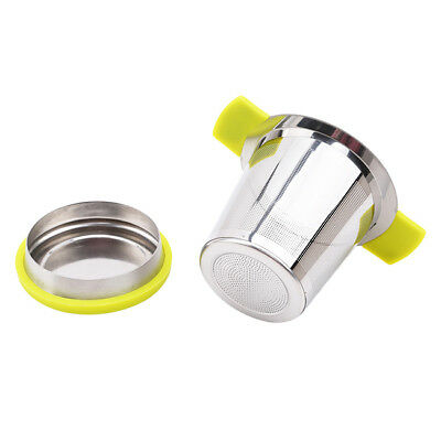 Stainless Steel Mesh Tea Infuser Cup Strainer Loose Leaf Filter With Lid BS