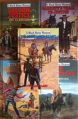 Joblot of 5 NEW Black Horse Westerns (Hdbk) RRP £70+ inc. Saloon Justice #shlf