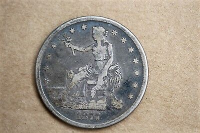 1877 S Trade Dollar. US Silver Coin. Estate Find. See My Other Silver Coins.