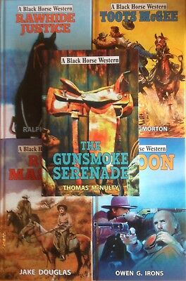 Joblot of 5 NEW Black Horse Westerns (Hdbk) RRP £70+ inc. Run Masked #shlf