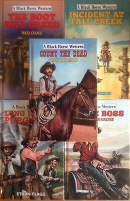 Joblot of 5 NEW Black Horse Westerns (Hdbk) RRP £70+ inc. Count The Dead #shlf