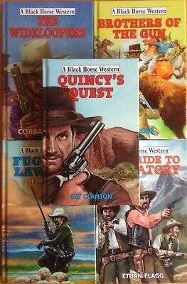 Joblot of 5 NEW Black Horse Westerns (Hdbk) RRP £70+ inc. Quincy's Quest #shlf