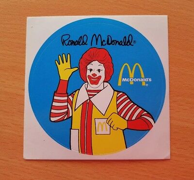 McDonalds Sticker Ronald McDonald
