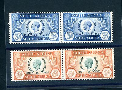 South Africa  1935 Silver Jubilee 3d and 6d Pairs  L.H.M.     (S1040)