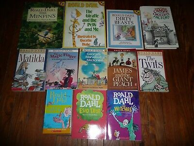 LOT OF 12 ROALD DAHL Chapter Books BFG Esio Trot GOING SOLO Boy WITCHES Twits