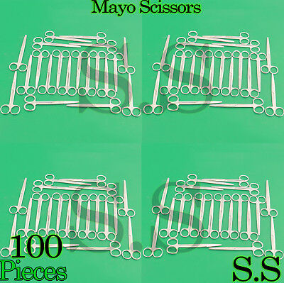 100 MAYO DISSECTING SCISSORS Straight 7'' SURGICAL INSTRUMENTS