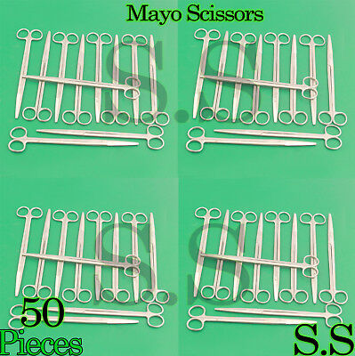 """50 Mayo Dissecting Scissors 8"""" Straight Surgical Instruments"""