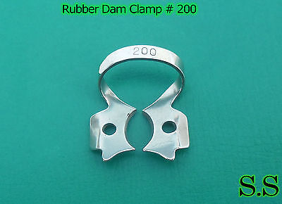 12 Pcs Endodontic Rubber Dam Clamp #200