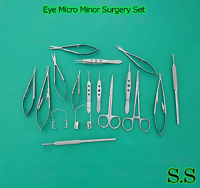 20 Pc Eye Micro Minor Surgery Ophthalmic Veterinary Surgical Instruments EY-018
