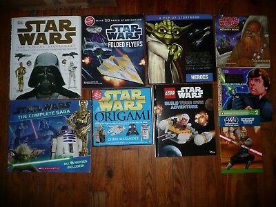 Vintage Star Wars Books Lot Of 8 Coloring Activity Educational