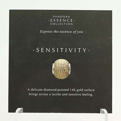 *BEAD NOT INCLUDED* New Pandora Essence Collection Sensitivity 19 Info Cards