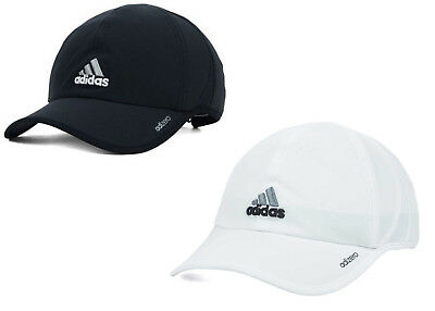 Adidas Men s Adizero II Cap   Hat Adjustable Strapback Black or White  Running 4a40f3883f8