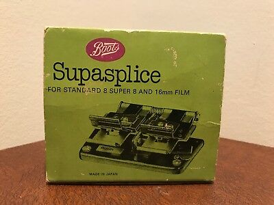 Boots Supasplice Movie Film Roll Tape Splice Super 8 16mm Cutter