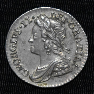 1759 Great Britain, George Ii Maundy Penny, Km 657, About Uncirculated